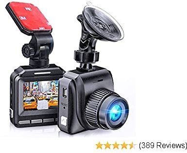 Latest 2020 Dash Cam for Cars 60 FPS 1920x1080p with IR Night Vision 1080P FHD Mini in Car Camera 170° Wide Angle Driving Recorder with G-Sensor, Parking Monitor Dashcam, Full HD, WDR, 2 Mounts