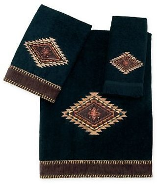 Avanti Mohave Fingertip Towel in Black