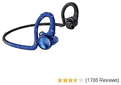 Plantronics BackBeat FIT 2100 Wireless Sweatproof and Waterproof in Ear Workout Headphones, Blue