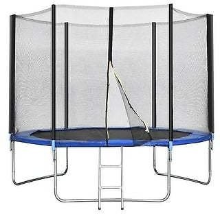 Smacktom 10 Ft Combo Bounce Jump Safety Trampoline W/Ladder