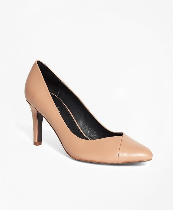 Women's Nude Leather Pumps   Brooks Brothers