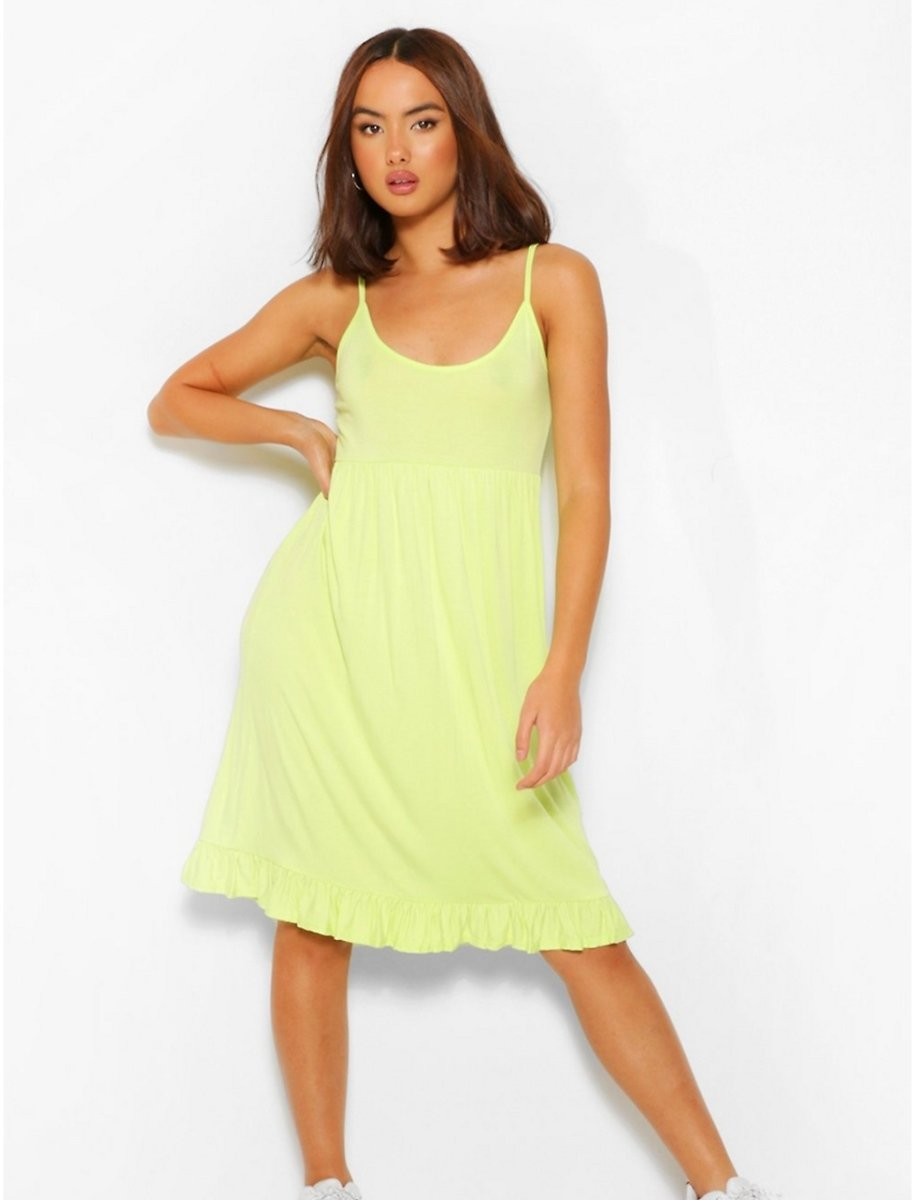Strappy Tiered Smock Dress   Boohoo