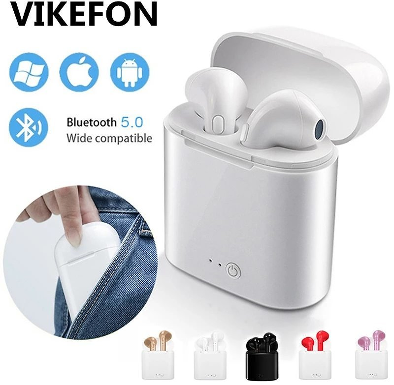 TWS Wireless Headphones Bluetooth 5.0 Earphones Stereo Sport Earbuds Headset With Mic For IPhone Xiaomi Samsung All Phone
