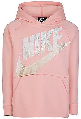 Nike - Little Girl's Logo Cotton-Blend Pullover Hoodie