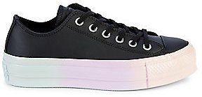 Converse - Women's All Star Faux Leather Platform Sneakers