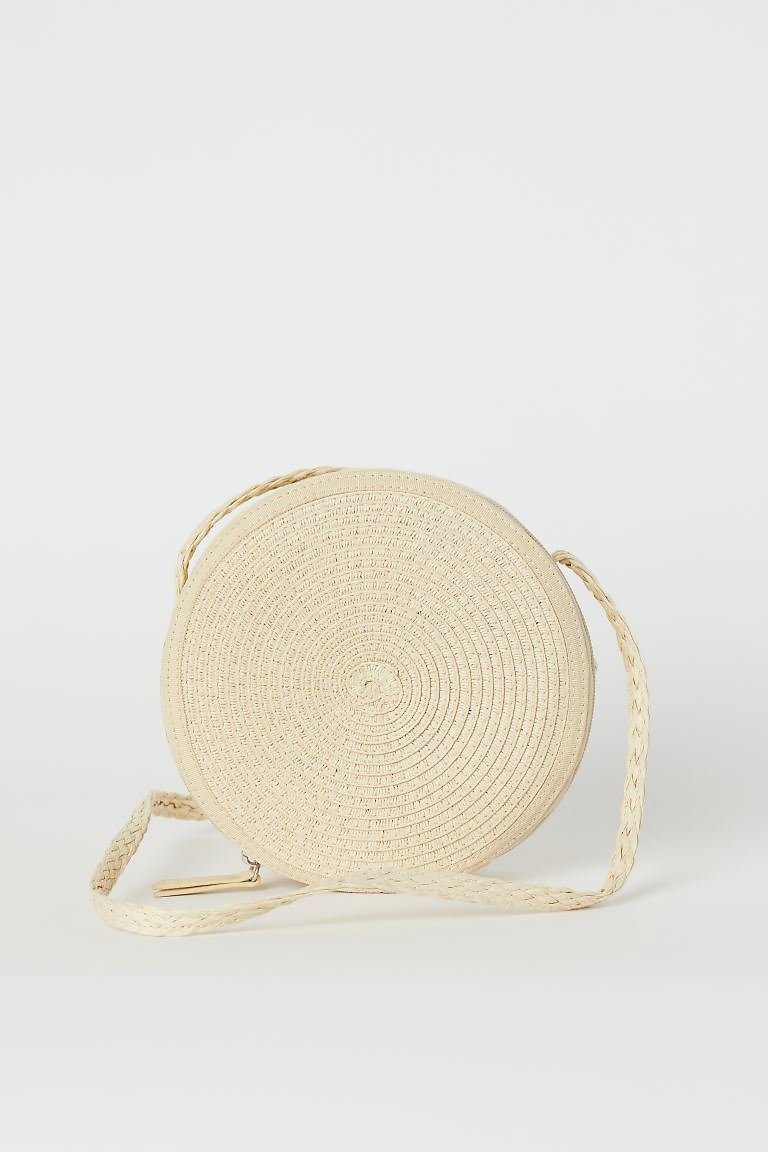 Straw Shoulder Bag - Beige - Ladies | H&M US
