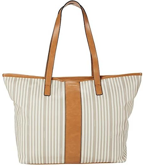 Logo Stripe East/West Tote