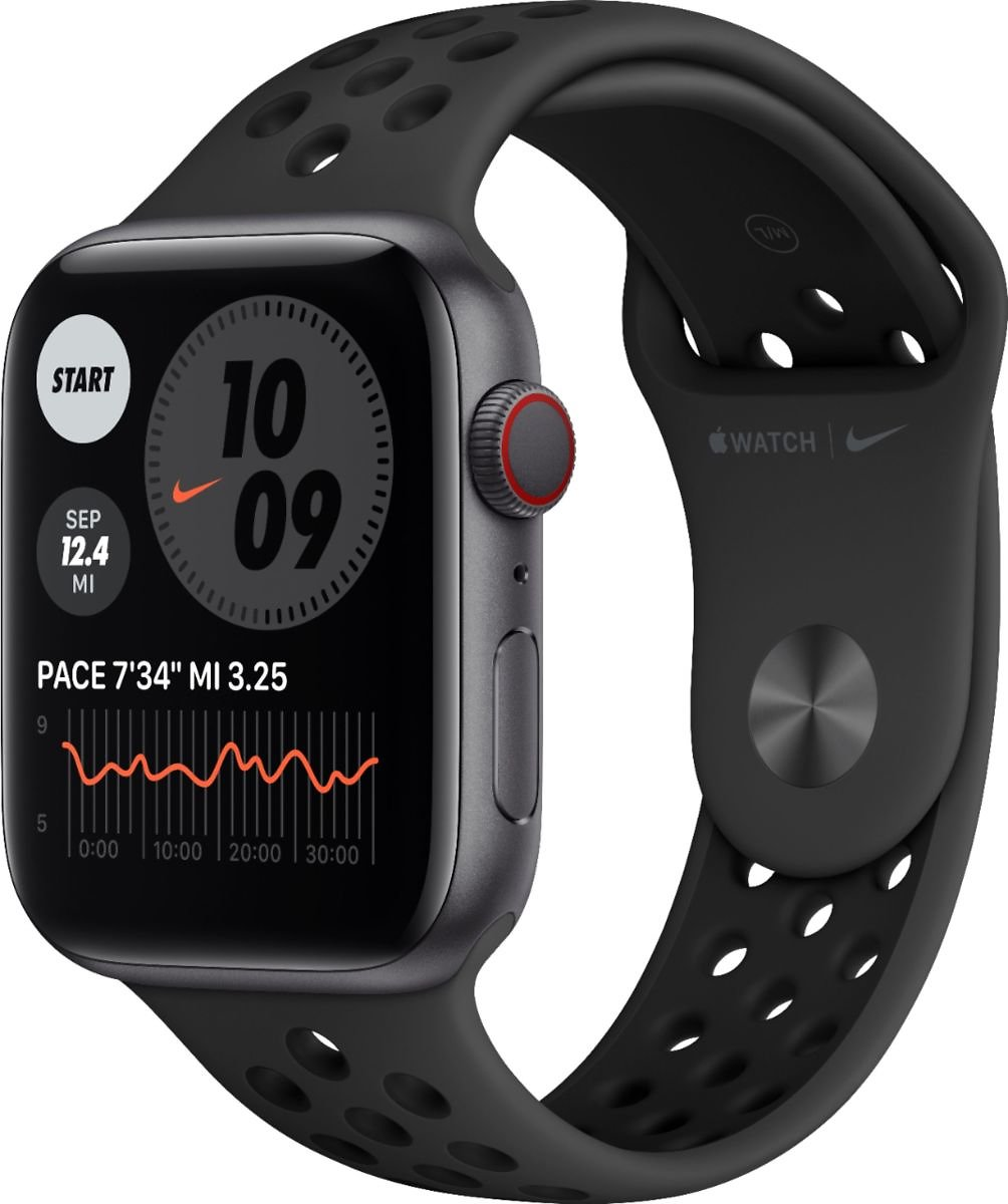 Apple Watch Nike Series 6 (GPS + Cellular) 44mm Space Gray Aluminum Case with Anthracite/Black Nike Sport Band Space Gray MG2J3LL/A