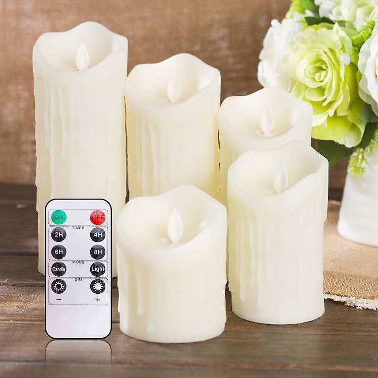 US $7.8 40% OFF|Lellen 1pc Tears Shape LED Candles Remote Control Scented Bougie Velas Pillar Candle Home Wedding Decoration for Birthday Party|Candles| - AliExpress