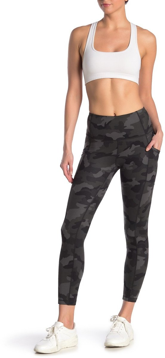 90 Degree By Reflex Yogalicious Lux Camo High Waisted Leggings