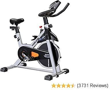 Branded YOSUDA Indoor Cycling Bike Stationary - Cycle Bike with Ipad Mount &Comfortable Seat Cushion (Gray)