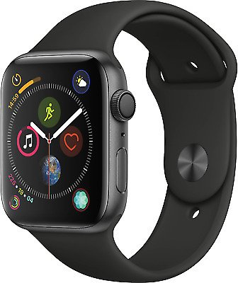 Apple Watch Series 4 44mm - GPS - Space Gray - Black Sport Band 190198843487