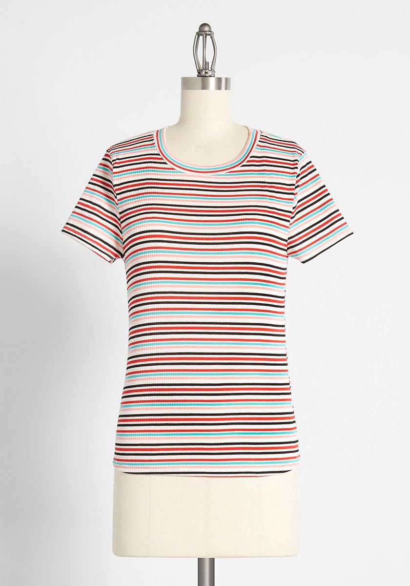 Top of The Line Striped Tee