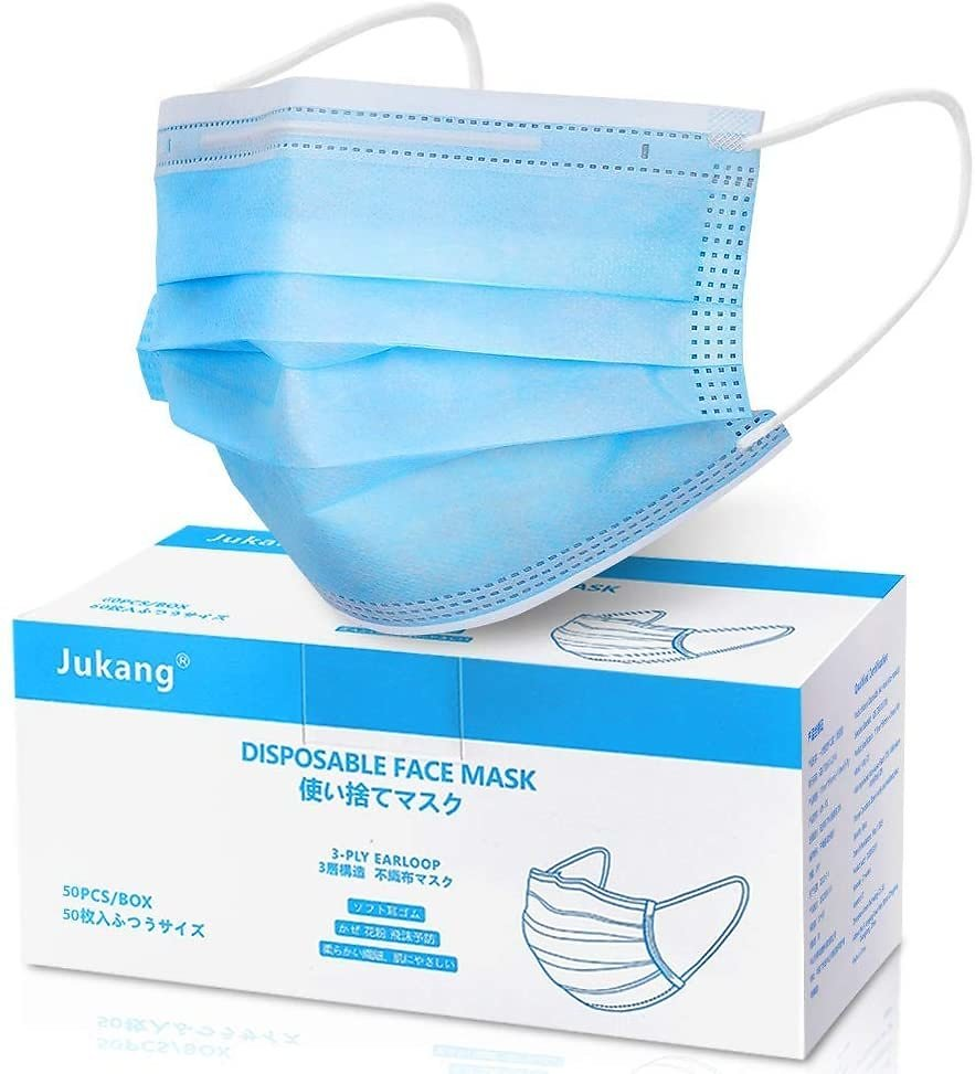 50-Count Disposable 3-Layer Face Mask