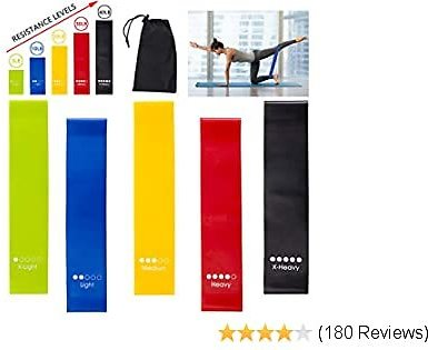 Lonnie Life Resistance Loop Bands Workout Bands Set for Men & Women Exercise Resistance Bands for Working Out, Home Fitness, Physical Therapy, with Instruction Guide