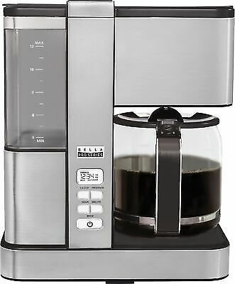 Bella - Pro Series Flavor Infusion 12-Cup Coffee Maker - Stainless Steel 829486900785