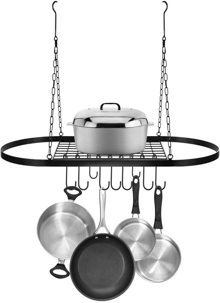 Sorbus | Pot & Pan Rack for Ceiling with Hooks - Black | Nordstrom Rack