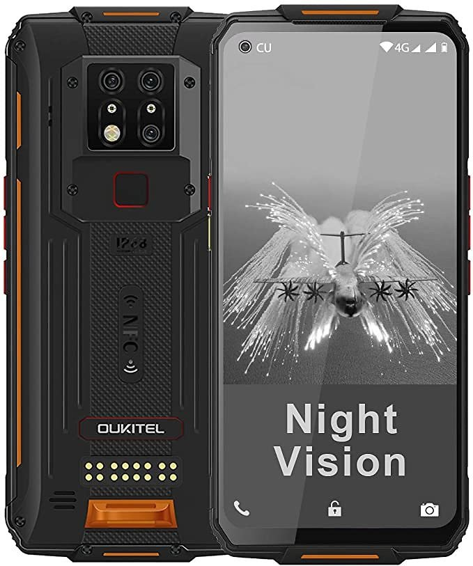 WP7 Rugged Smartphone, Night Vision Camera 8GB + 128GB Helio P90 Waterproof Unlocked Android Cell