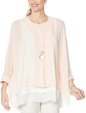 Exclusive! WynneLayers Unstructured Chiffon Shirt