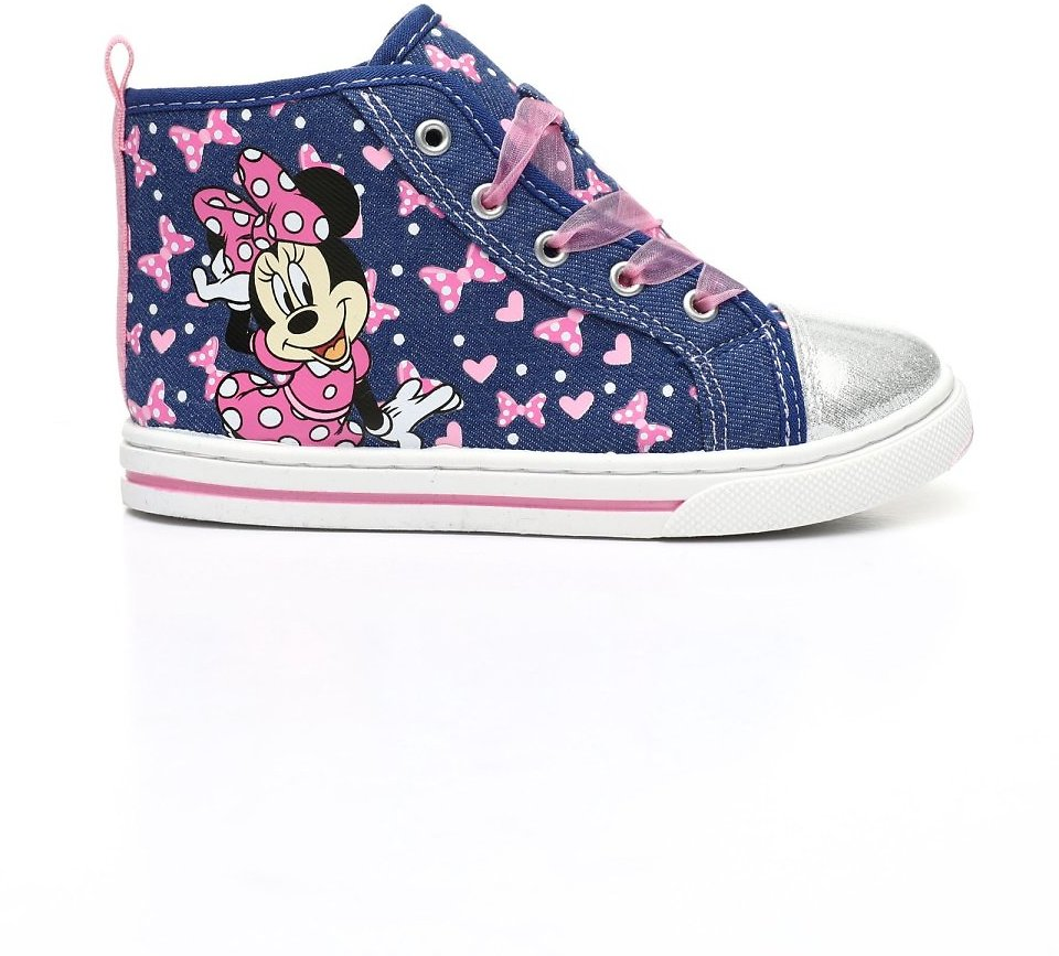 Disney-Minnie-Mouse-Glittery-Hearts-Character-High-Top-Sneakers-Toddler-Girls