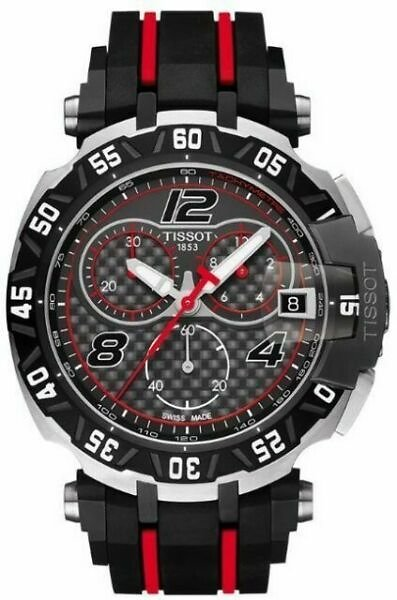 TISSOT T-Race Moto GP 45mm Stainless Steel Black/Red Rubber Strap Men's Watch - (T0924172720700) for Sale Online