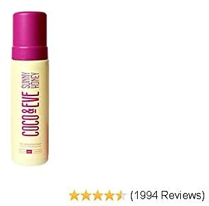Coco & Eve Sunny Honey Bali Bronzing Self Tanner Mousse - (Dark) All Natural Sunless Tanning Mousse | Instant Self Tanning Lotion with Bronzer and Skin Moisturizer
