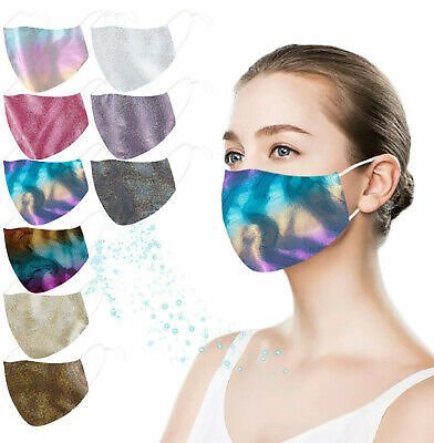 Sequin Adult Reusable Mouth Face Masks Cover Face Wear Breathable