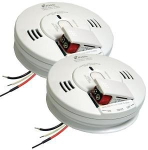 Kidde FireX Hardwire Smoke and Carbon Monoxide Combination Detector with 9V Battery Backup and Voice Alarm (2-Pack)-21027477