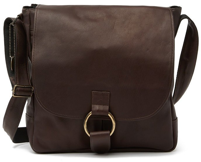DAVID KING & CO | Vertical Laptop Leather Messenger Bag | Nordstrom Rack