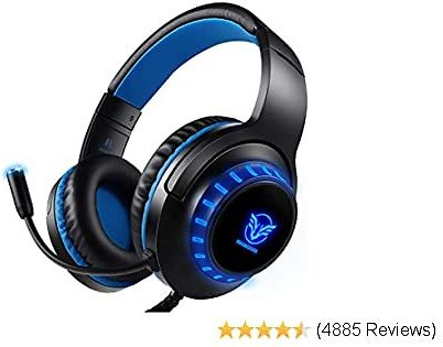 Best Pacrate Gaming Headset for PS4 PC Xbox One Headset with Microphone Noice Cancelling Stereo Surround Sound Headphone