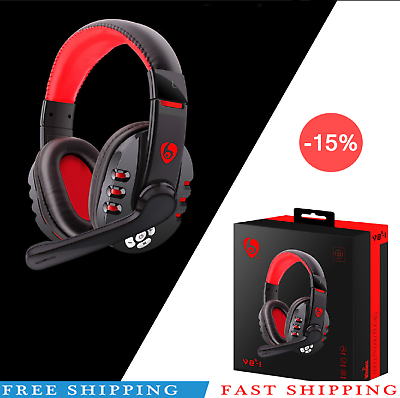 Wireless Headset Bluetooth Gaming Headset Mic Headphones Stereo,for PC Laptop *