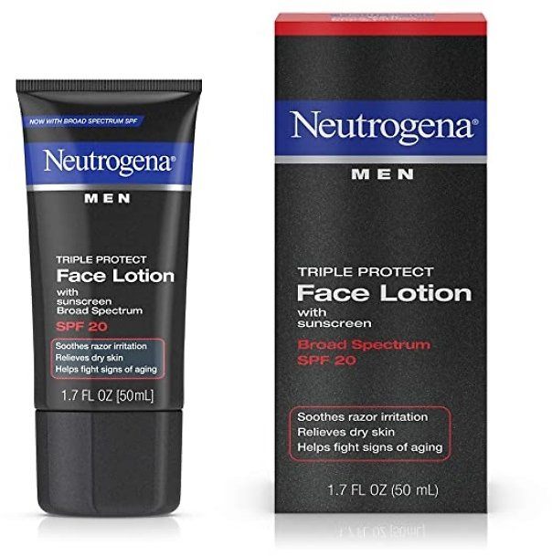Neutrogena Triple Protect Face Lotion for Men, SPF 20, 1.7 Ounce