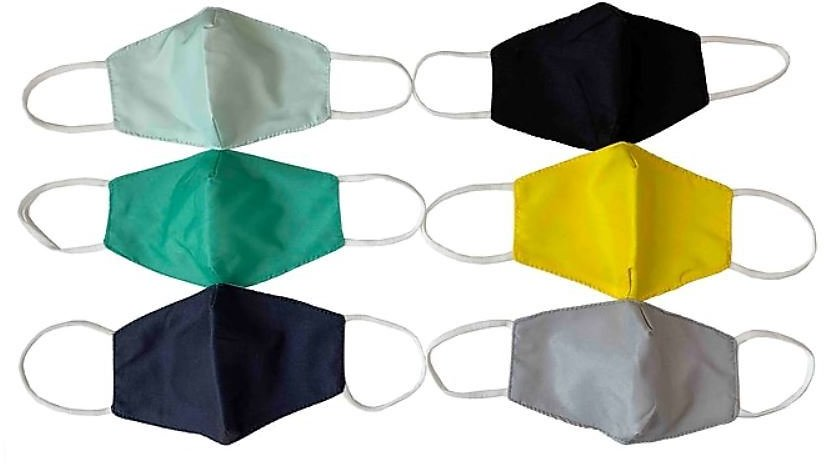 ORLY Reusable Cloth Face Masks for Kids, Elastic Strap, Assorted Colors, 10/Pack (HB-0048-ST)