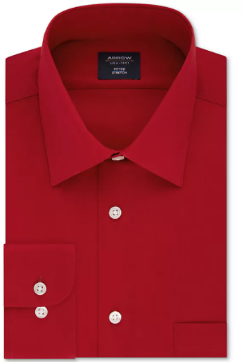 Men's Fitted Stretch Solid Dress Shirt (Mult. Colors)