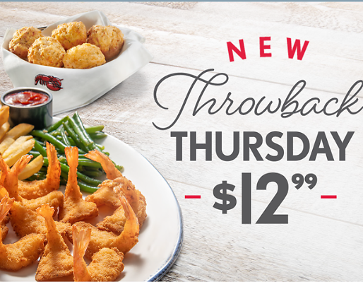 THROWBACK THURSDAY! $12.99 Walt's Favorite Shrimp