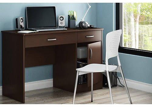 South Shore Smart Basics Small Work Computer Desk, Multiple Finishes