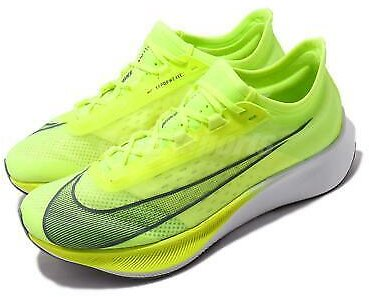 Nike Zoom Fly 3 III Volt Grey White Men Running Shoes Sneakers AT8240-700