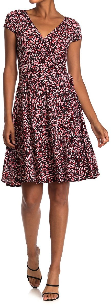 Maggy London | Abstract Print Cap Sleeve Dress | Nordstrom Rack