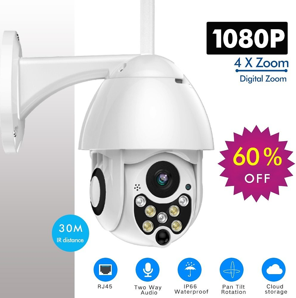 US $25.8 68% OFF|SDETER 1080P PTZ IP Camera Outdoor Speed Dome Wireless Wifi Security Camera Pan Tilt 4X Zoom IR Network CCTV Surveillance 720P|Surveillance Cameras| - AliExpress
