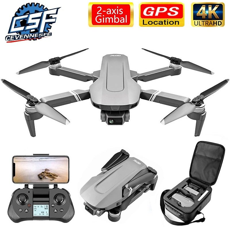 F4 Drone 4k 5G HD Mechanical Gimbal Camera Gps System Supports TF Card Drones Stabilier Distance 2km Flight 25 Min VS SG9