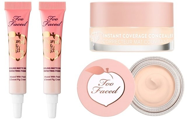 FREE Too Faced Peachy Primer & Peach Concealer Sample Card with $45 Purchase