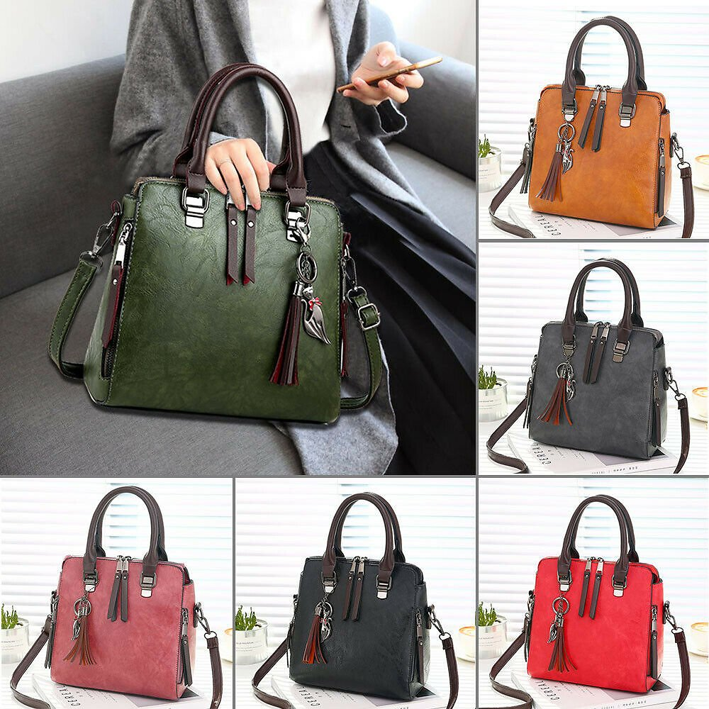 Fashion Women Handbags Shoulder Bag Messenger Crossbody Purse Faux Leather