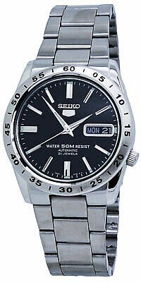 Seiko 5 Automatic Black Dial Stainless Steel Men's Watch SNKE01
