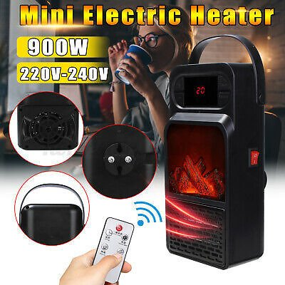 900W 220-240V Mini Portable Timer Electric Fan Heater Warmer Fast Heater !1