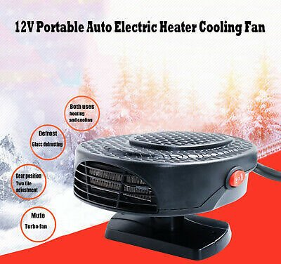 Portable Car Space Fan Heater Air Warmer Fast Heating Cooling Defroster Defogger