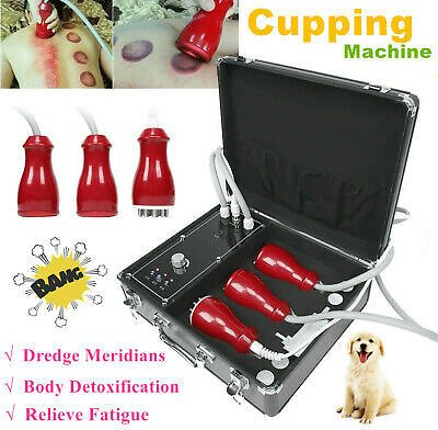 Electric Scraping Machine Vacuum Cupping Therapy Massager Body Detoxification #f