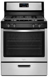 Whirlpool 5.1 Cu. Ft. Gas Range with Under-Oven Broiler in Stainless Steel-WFG320M0BS