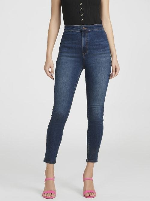 Zaylee Super-High Rise Skinny Jeans