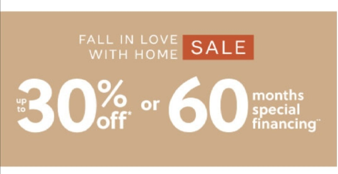 Fall in Love Whit Home! UP to 30% OFF or 60 Months Special Financing On Ashley Furniture HomeStore