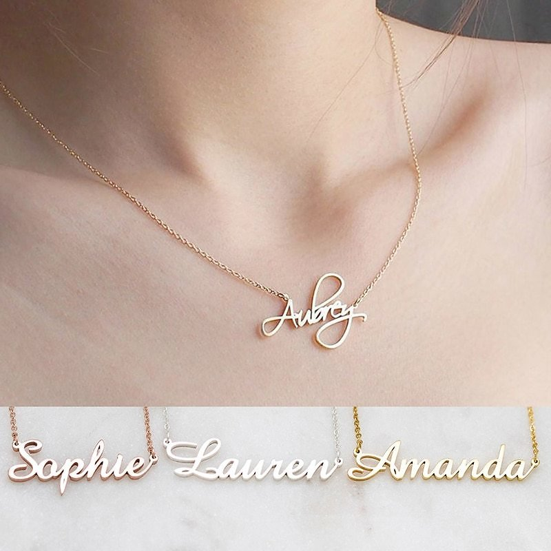 US $7.05 17% OFF|DODOAI Custom Necklaces Personalized Name Necklaces Jewelry Personality Letter Choker Necklaces with Name for Women Girls Mother|Customized Necklaces| - AliExpress